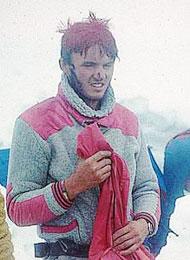 Pavol Jackovič v roce 1983 po výstupu severovýchodní stěou Ušby.