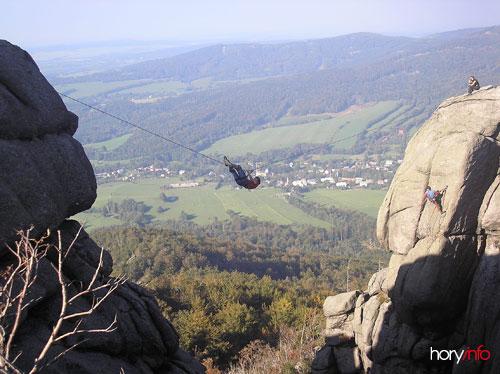 Přelanění z turistického na lezecký vrchol