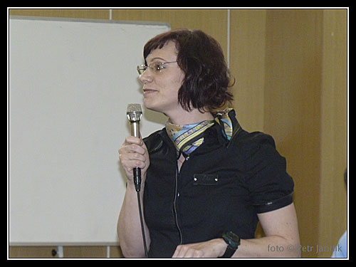 Jana Kubalová, předsedkyně lékařské komise, jako vždy elegantní