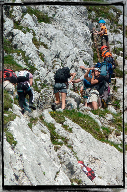 Alpspitze ferrata - za pěkného víkendu narvaná