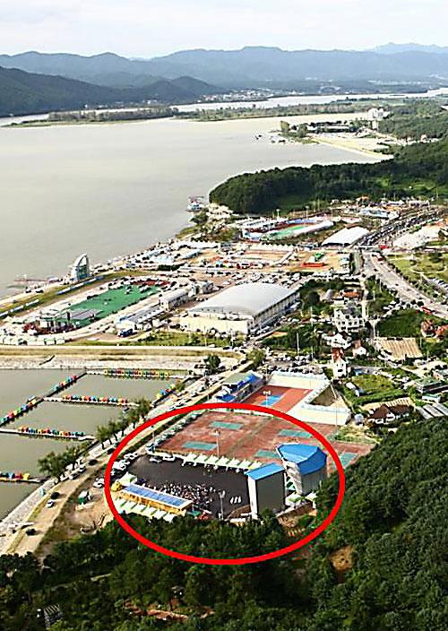 dějiště závodů v Chuncheonu