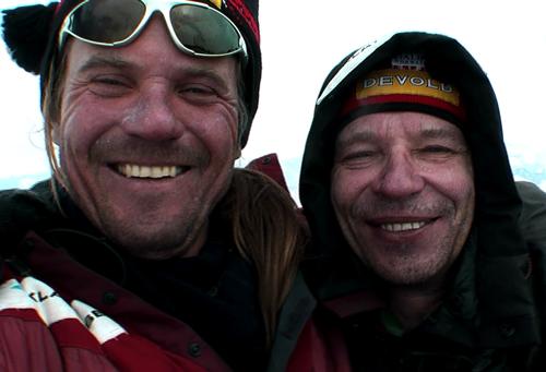 Marek Holeček a Zdeněk Hrubý na vrcholu Aconcaguy