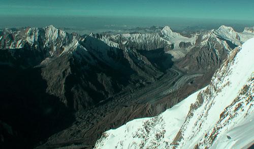 Údolí s ledovcem