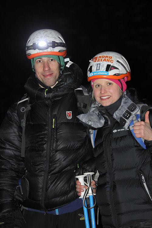 Mirek Matějec a Lucka Hrozová po slanění