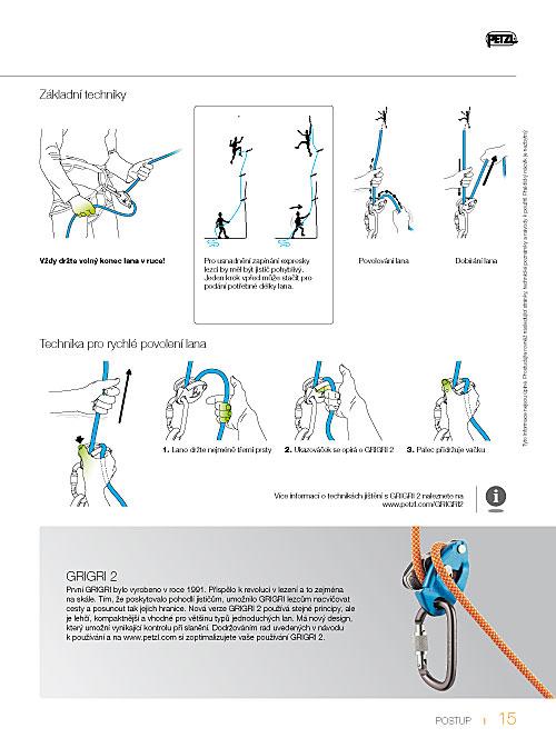 Katalog Petzl 2012 - jištění s Grigri 2