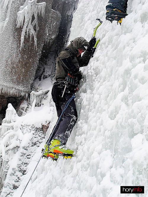 Prvolezec v levé částí hlavního ledopádu