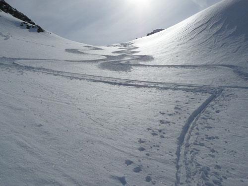 Sjezd z Tschenglser Hochwandu