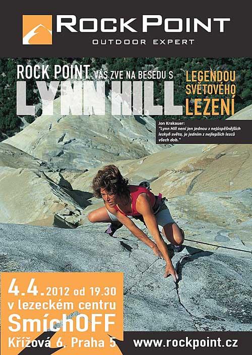 Plakát přednášky Lynn Hill