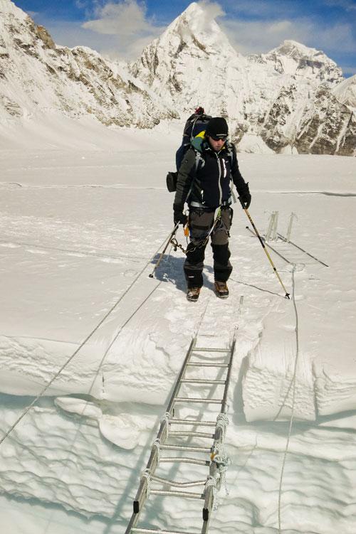 V ledopádu Khumbu při aklimatizaci na Lhotse
