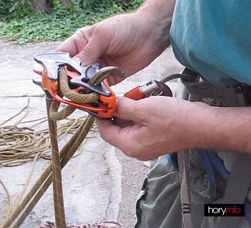 Alpine Up, chybné založení lana při dynamickém režimu