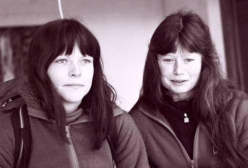 Zuzana Hofmannová s Alenou Čepelkovou v Bergellu 1982