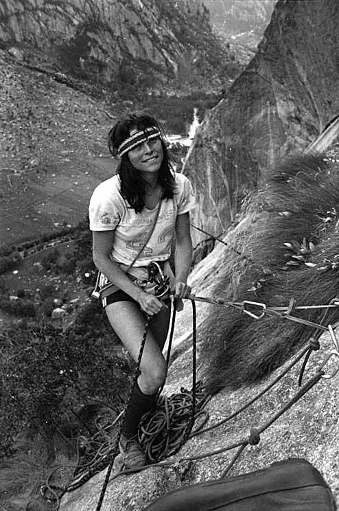 Zuzana Hofmannová ve Val di Mello 1980