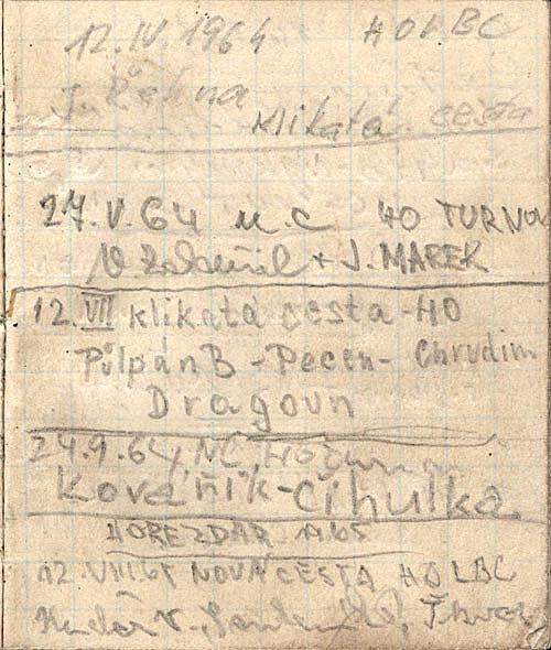 Vrcholová knížka z Laňky