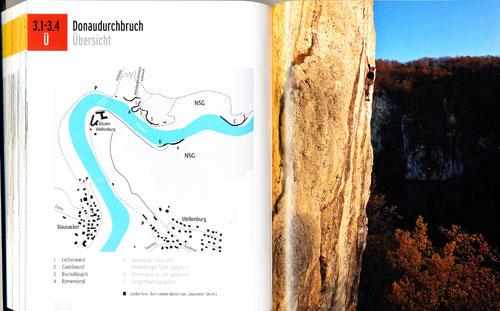 Popis oblasti začíná mapkou skal