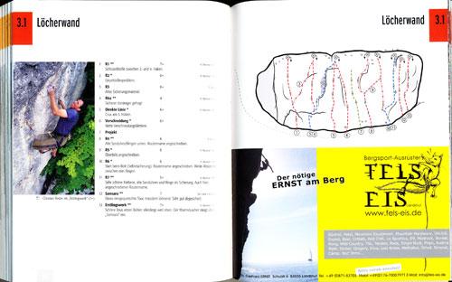 Výpis cest a schéma skály