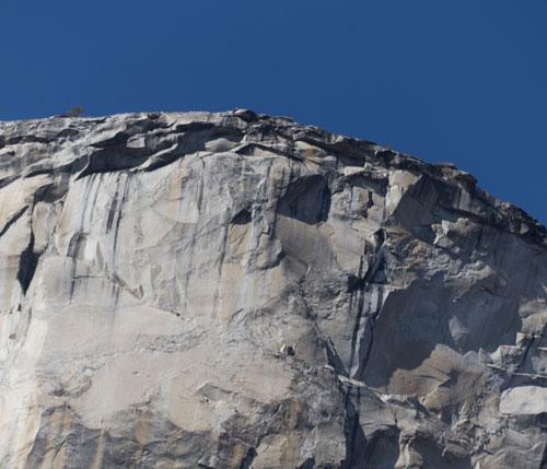 Terén pod vrcholem El Capa