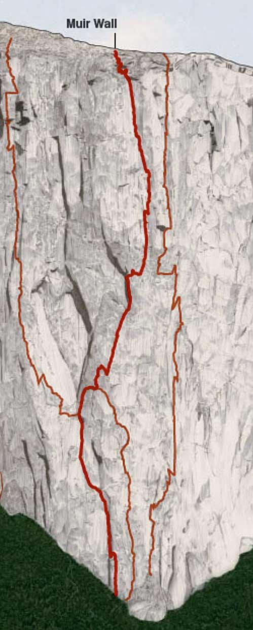 Muir Wall vylezli v roce 1956 Yvon Chouinard a TM |Herbert za 7 dní