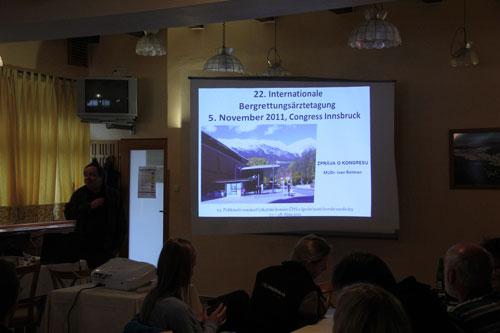 Výsledky 22. mezinárodního kongresu horské medicíny v Insbrucku v podání MUDr. Ivana Rotmana