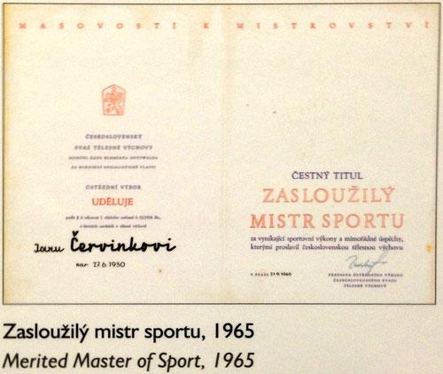 Diplom Zasloužilého mistra sportu