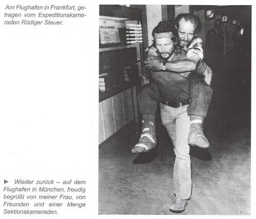 Rüdiger Steurer nese omrzlého Pita Schuberta na Frankfurtském letišti