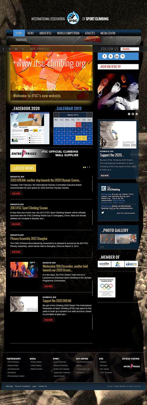 Nový web IFSC