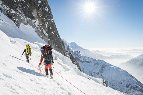 Na ledovci Nant Blanc