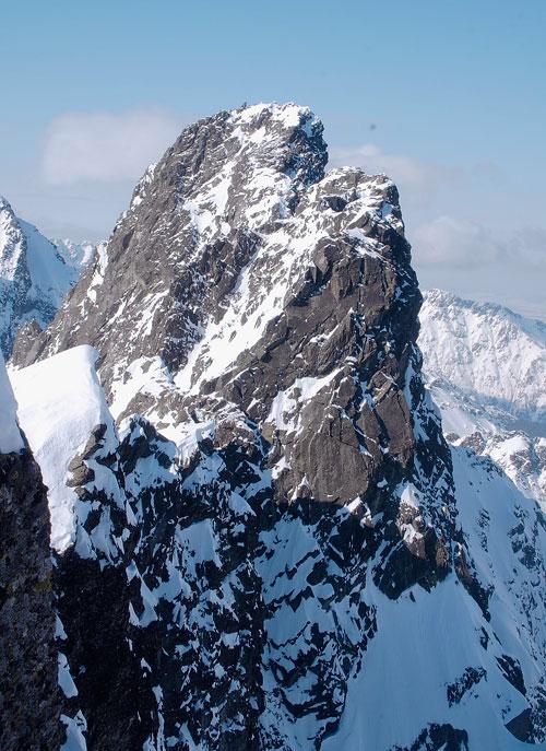 Část hlavního hřebene Vysokých Tater kolem Ganku.
