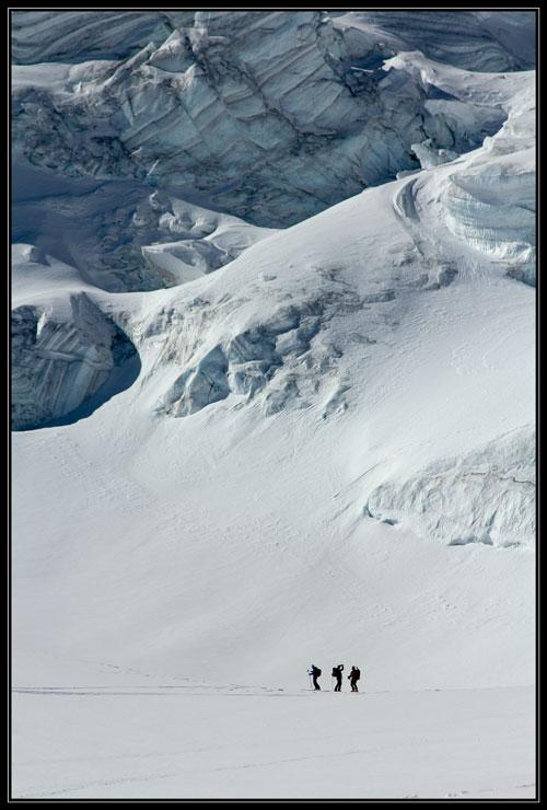 Ledovec Valsorey pod Mt. Vélan (3681m).