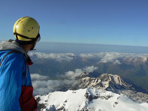 Z vrcholu Kazbeku přes vulkány Kelského plata na jih k Araratu