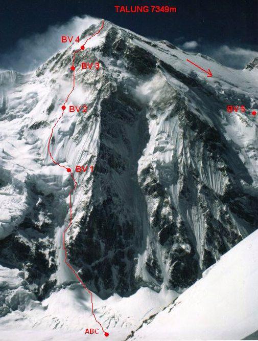 Talung, alpský prvovýstup Máry Holečka