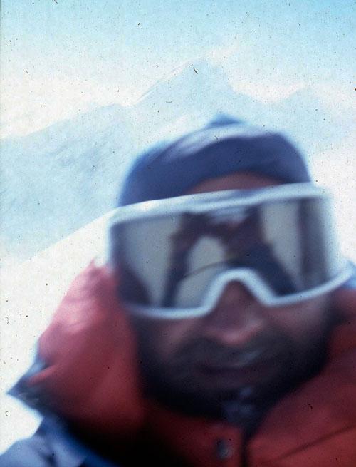 Petr Kolouch na vrcholu v roce 2002