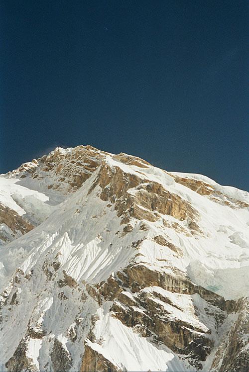 Vrchol Talungu, vrcholová stěnka cesty Holečka a Hrubého