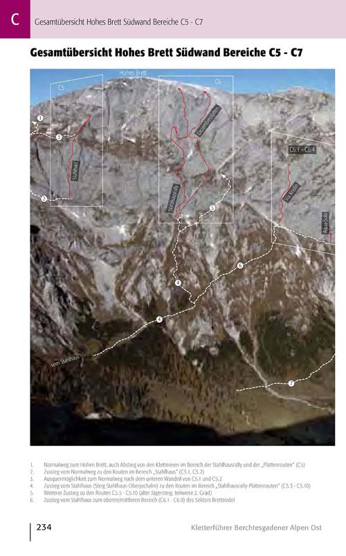 Detailnější foto oblasti s přístupy