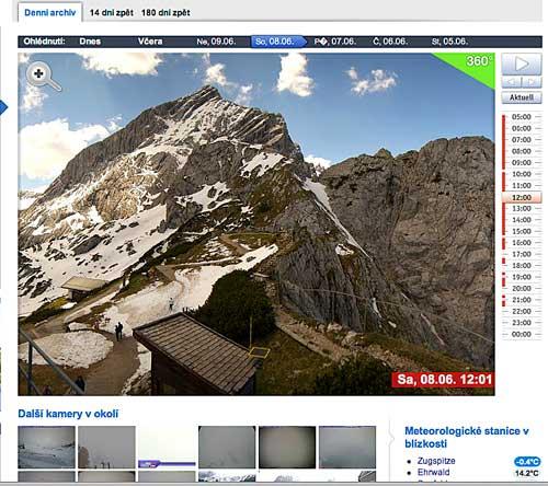 Webová kamera Alpspitze