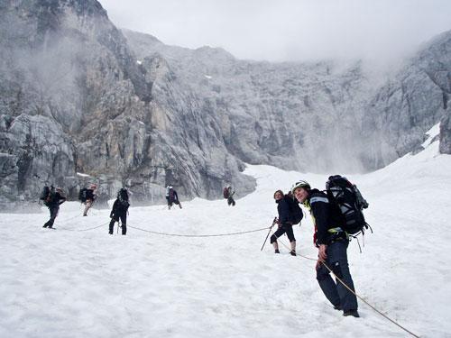 Cesta po ledovci k druhé ferratě