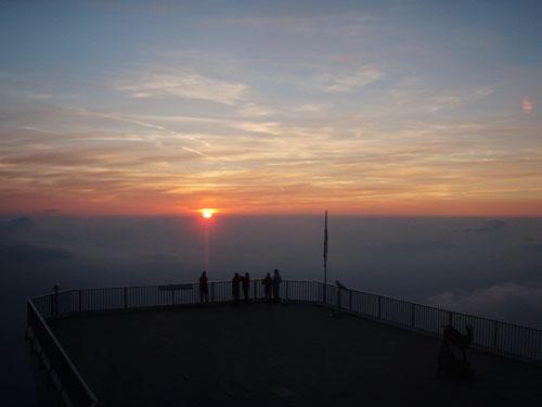 Západ slunce nad Zugspitze
