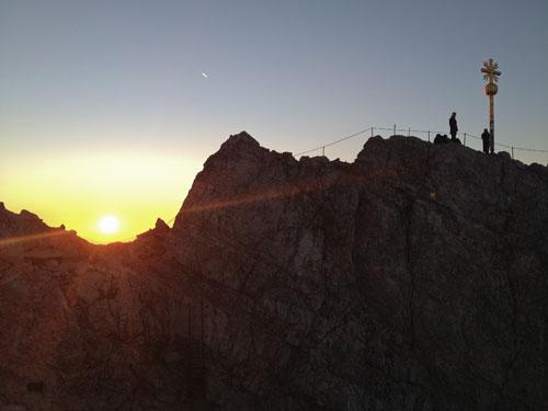 Východ slunce nad Zugspitze