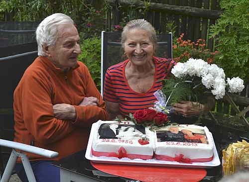 Mirčan s Jiřinou, 55 let spolu