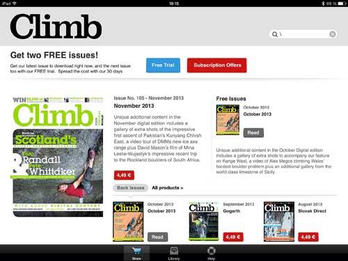 Bezplatná čtečka časopisu Climb
