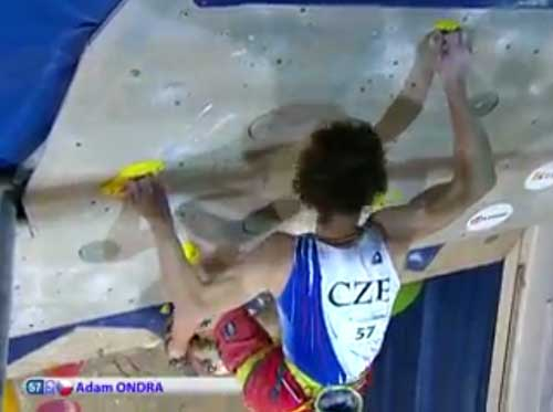 Adam Ondra ve finále