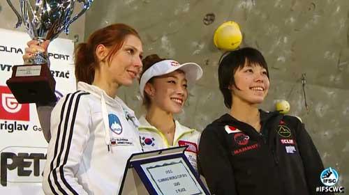 Vítězky Světového poháru 2013, Mina Markovič, Jain Kim a Momoka Oda