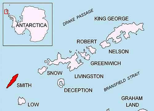 Antarktické ostrovy a Smith island