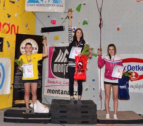 Vítězné ženy na bouldmatkách vítězů
