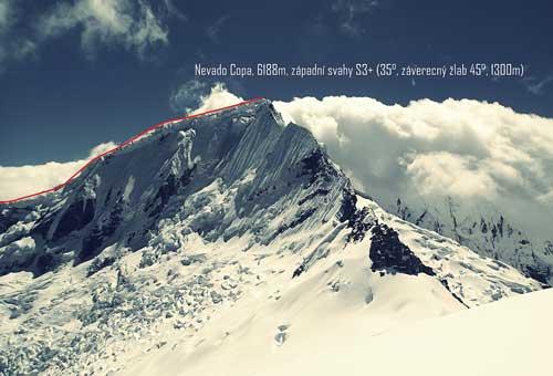 Nevado Copa, topo sjezdu
