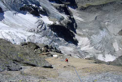 Pilier Cordier na Grand Charmoz, Chamonix