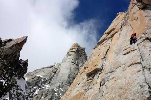 Švýcarská cesta na Grand Capucina, Chamonix