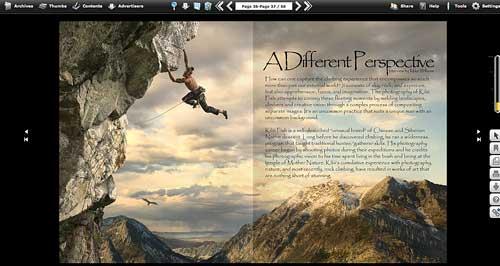 DPM Climbing, čtečka časopisu