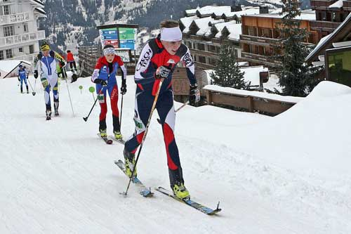 Courchevel vertical race