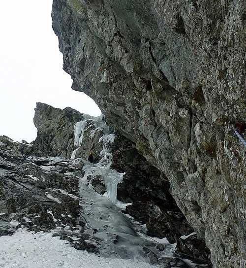 Kupodivu led vydržel, test vývrtek naštěstí neproběhl a poslední práh je překonán.