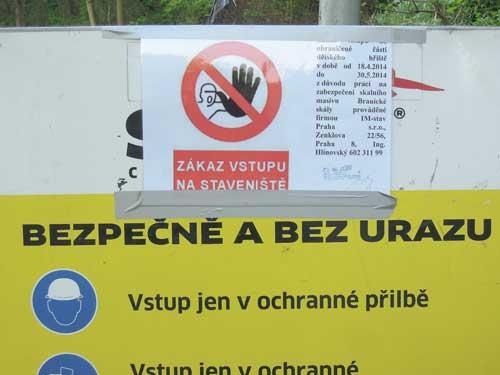 Braník - zákaz vstupu